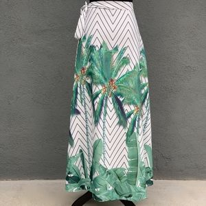 CBR Skirts - CBR | Palm Printed | Wrap | Maxi-Skirt